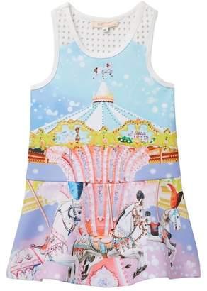 Baby Sara Fit & Flare Carousel Dress (Toddler & Little Girls)