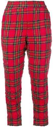R 13 tartan cropped trousers