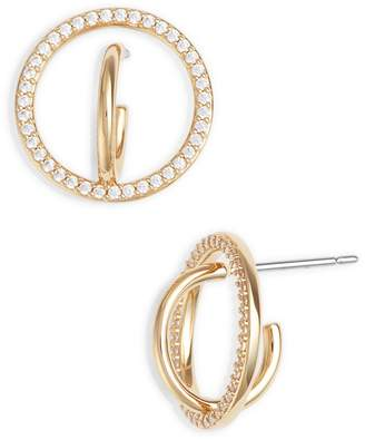 Nadri Cubic Zirconia Hoop Earrings