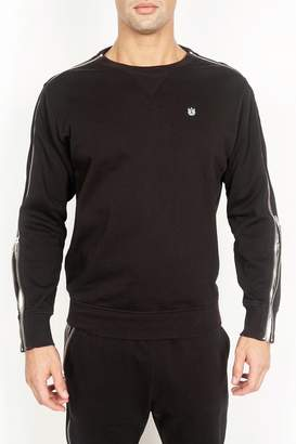 Cult of Individuality Crew Neck Long Zip Sleeve Pullover