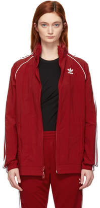 adidas Red SST Adicolor Windbreaker Track Jacket