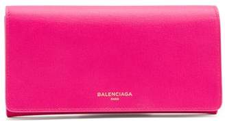 Balenciaga Essential Foldover Leather Wallet - Womens - Pink