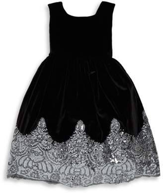 Isabel Garreton Little Girl's Sparkle Hem Fit-&-Flare Dress
