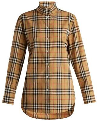 Burberry Starling Cotton Shirt - Womens - Black Multi