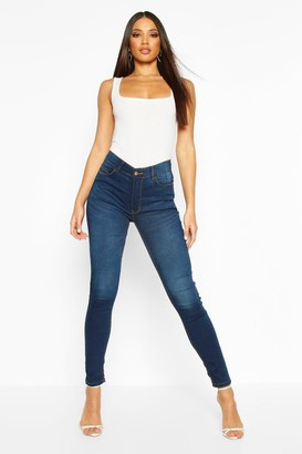 boohoo Lucie High Rise 5 Pocket Skinny Jeans