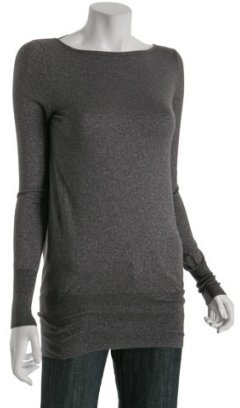 Autumn Cashmere astroid cashmere-lurex draped back sweater