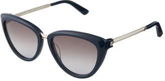 Calvin Klein Collection Acetate/Metal Cat-Eye Sunglasses