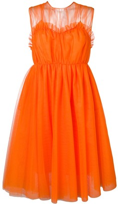 MSGM flared tulle dress