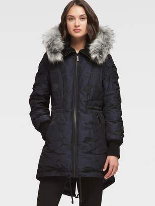 DKNY Anorak With High-Low Hem