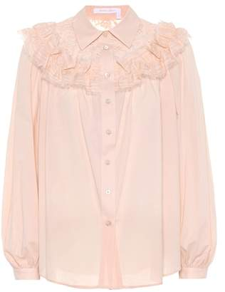 See by Chloe Lace cotton shirt