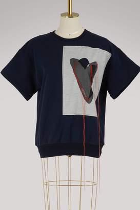 Maison Margiela Heart embroidered T-shirt