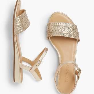 Talbots Daisy Micro-Wedge Sandals - Braided Metallic
