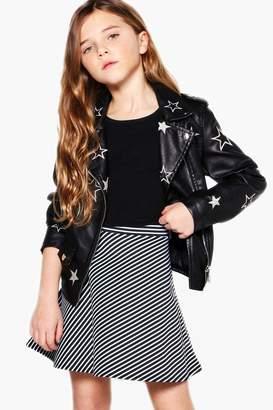 boohoo Girls Stripe Skater Skirt