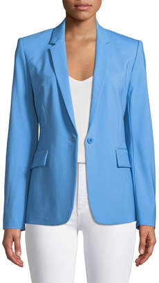 Theory Essential One-Button Stretch-Wool Jacket