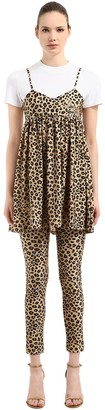 VIVETTA Leopard Printed Dress & T-shirt