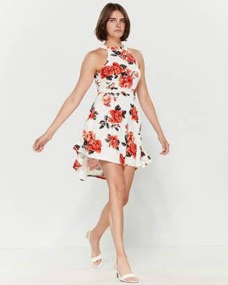 Almost Famous Floral Print Halter Skater Dress
