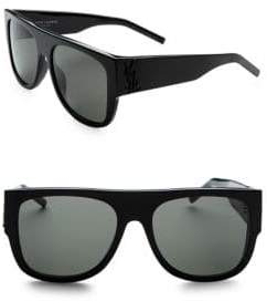 Saint Laurent Squared Flat Top Sunglasses