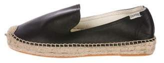Soludos Leather Round-Toe Espadrilles