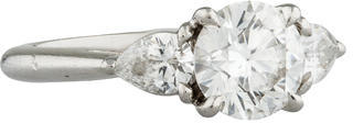 Tiffany & Co. 1.40ct Diamond Engagement Ring $11,895 thestylecure.com