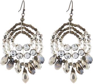 Nakamol Mixed Crystal Bead Chandelier Earrings