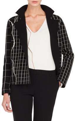 Akris Reversible Windowpane Sweater Jacket