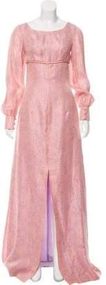 Barbara Tfank Floral Pattern Maxi Dress