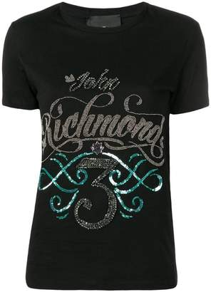 John Richmond sequinned logo T-shirt