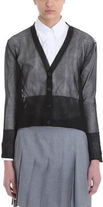 Thom Browne Sheer Classic V-neck Cardigan