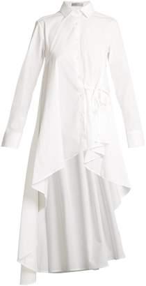 Palmer Harding PALMER/HARDING Waterfall-hem cotton-blend poplin shirt