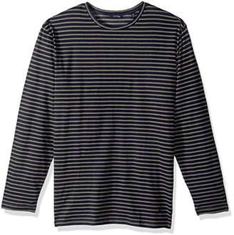 Nautica Men's Long Sleeve Striped Crew Neck Shirt