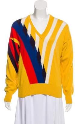 Gucci Patterned V-Neck Sweater