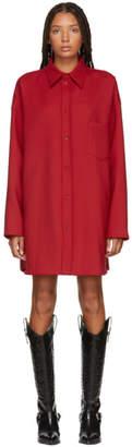 MM6 MAISON MARGIELA Red Wool Overshirt