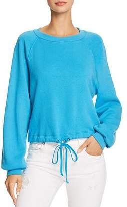 Pam & Gela Cropped Drawstring Sweatshirt - 100% Exclusive