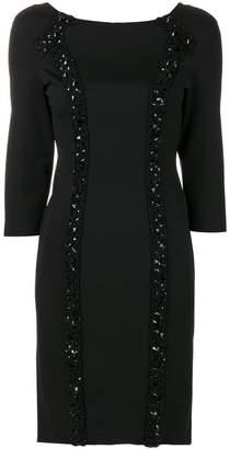 Blumarine embellished fitted dress