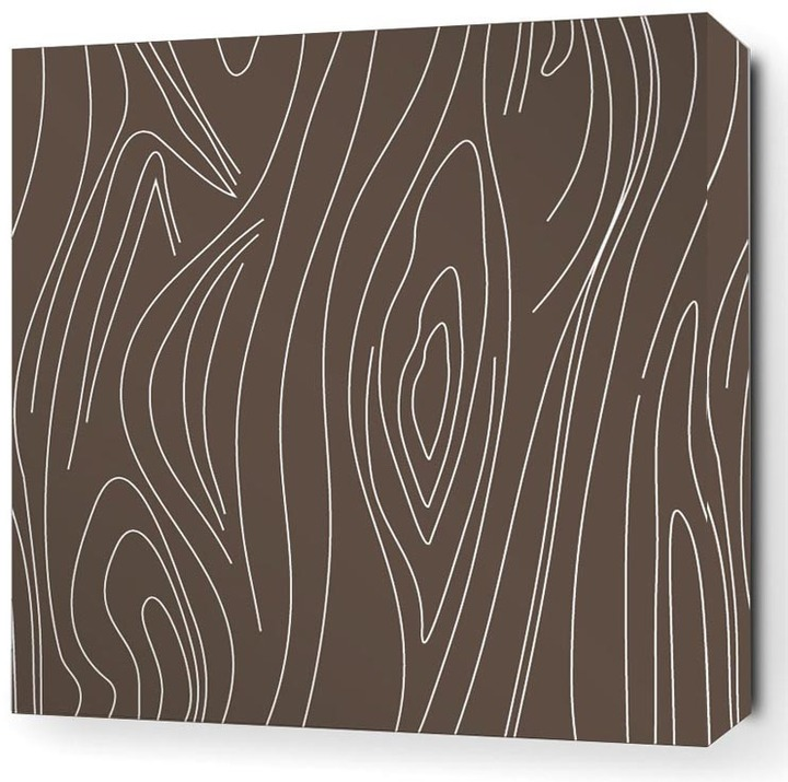 Inhabit - Madera in Chocolate Stretched Wall Art