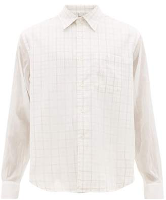 Our Legacy Policy Checked Cotton Blend Shirt - Mens - White