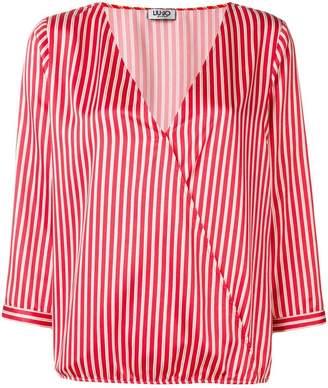 Liu Jo striped V-neck top