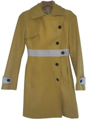 Karen Millen Yellow Cotton Coat for Women