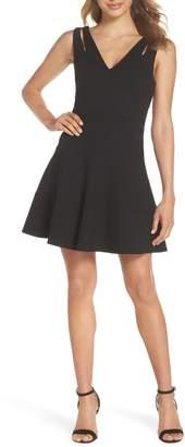 Ali & Jay Cutout Strap Fit & Flare Dress
