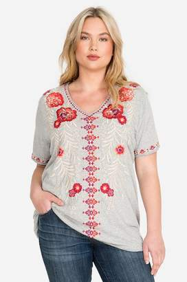 21bc34132ce Johnny Was Gray Plus Size Tops - ShopStyle