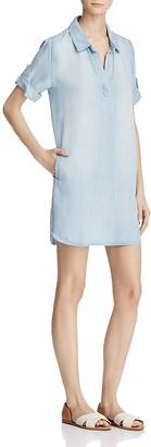 AQUA Chambray Shirt Dress - 100% Exclusive $78 thestylecure.com