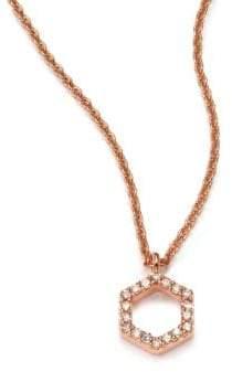Astley Clarke Honeycomb Diamond& 14K Rose Gold Pendant Necklace