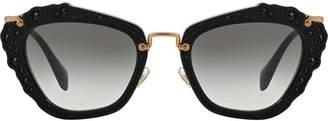 Miu Miu Noir glitter sunglasses