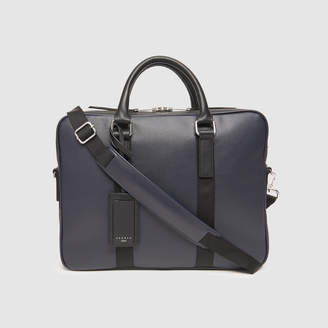 Sandro Small briefcase with contrasting handles
