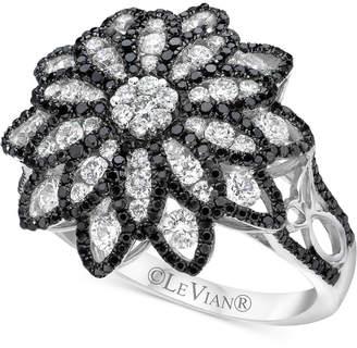 LeVian Le Vian Red Carpet® Diamond Flower Ring (1-1/3 ct. t.w.) in 14k White Gold