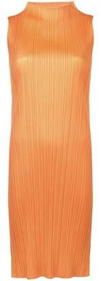 Pleats Please Issey Miyake pleated slit dress