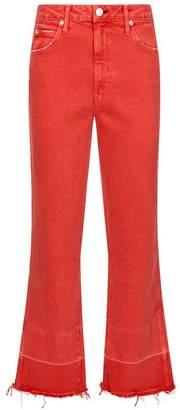 Amo Denim Bella Crop Flare Released Hem Jeans