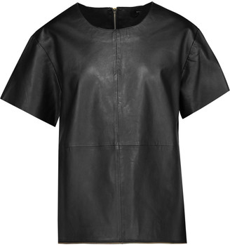 Muubaa Piper zip-embellished leather top $275 thestylecure.com