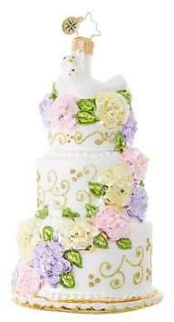Christopher Radko Newlywed Cake Figurine