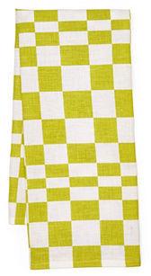 Check Tea Towel, Lime